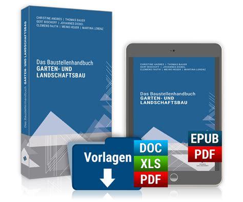 Garten Und Landschaftsbau Preise by Das Baustellenhandbuch Garten Und Landschaftsbau