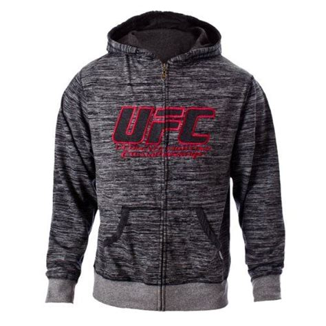 Hoodie Zipper Sweater Ufc Trainer ufc s black gray twisted zip up hoodie large cas mma and casual