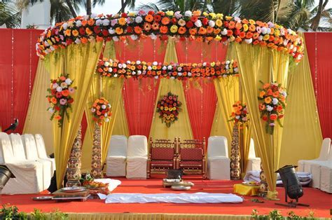 wedding planners   Traditional Indian Mandap   San Diego
