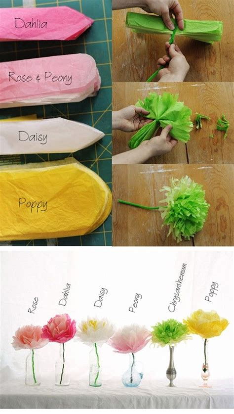 How To Make Different Paper Flowers - different types of tissue paper flowers flowers