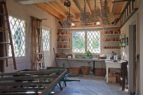 potting shed interior with rustic country design idea shed interiors porch rustic with utility sink contemporary