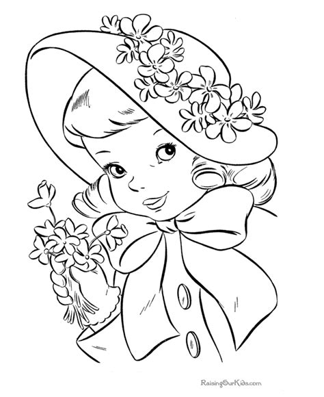 coloring pages easter bonnet kid coloring page of easter hat 012