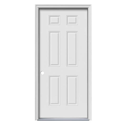 Exterior Door Panel Shop Reliabilt 6 Panel Insulating Right Inswing Primed Steel Primed Prehung Entry Door