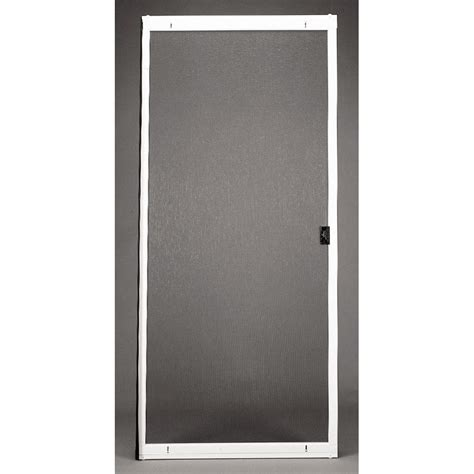 sliding screen door with door shop ritescreen white steel sliding screen door common 36 in x 80 in actual 36 in