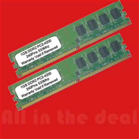 dell dimension e510 ram 2gb kit 2 x 1gb ddr2 pc2 4200 533mhz 240 pin low density