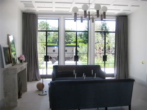 livingroom window treatments window treatments modern living room los angeles by draperies by walter
