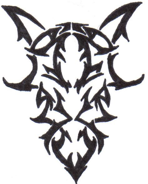 cool tribal goat head tattoo design