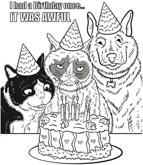 grumpy cat coloring book coloring pages pinterest