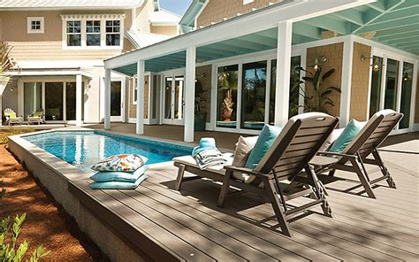 pool decks above ground pool deck ideas pictures trex