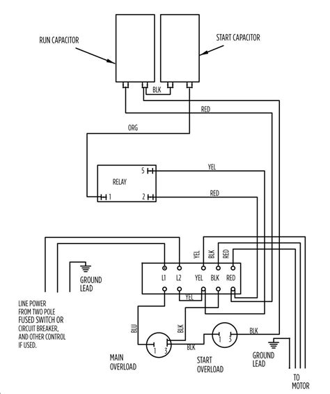 single phase submersible starter circuit diagram