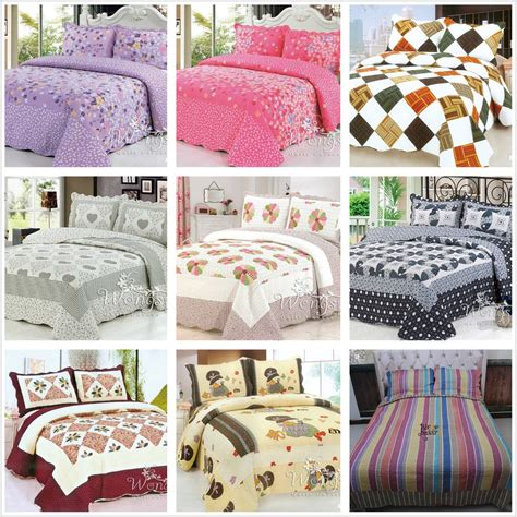 Quilted Bedspreads King Size Bed by New Cotton Quilted Bedspreads Set King Bed Size