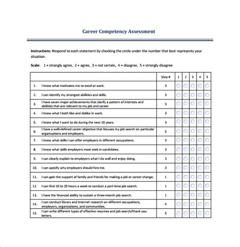 sle competency assessment template 6 free documents