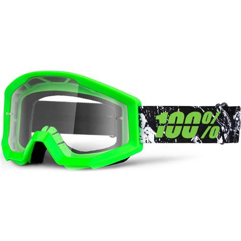 100 motocross goggles 100 percent new mx strata crafty dirt bike clear lime