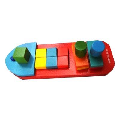 Karpet Anak Bongkar Pasang mainan kayu edukatif perahu bongkar pasang kayu seru