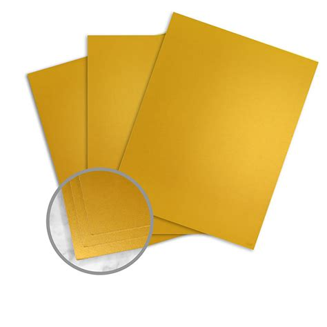 Card Paper Stock - gold paper 8 1 2 x 11 in 10 pt cover smooth 10 recycled