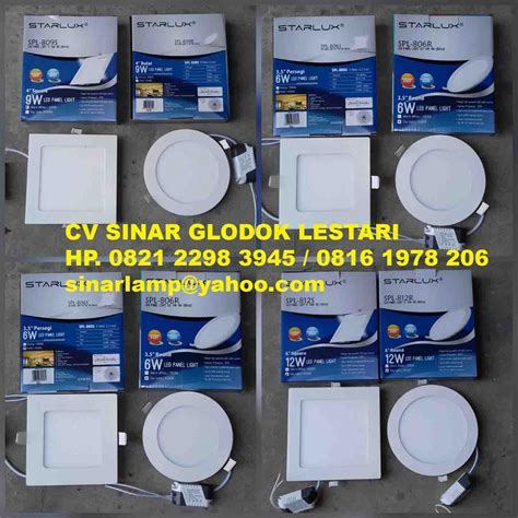 Led Panel Downlight 6w Bulat Terang Vosco Vcp 006 Daylight lu downlight led 6w 9w dan 12w starlux agen dan distributor lu agen dan distributor