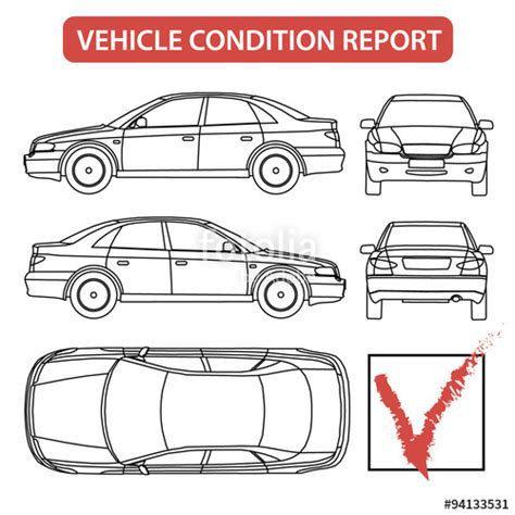 car damage report template quot vehicle condition report car checklist auto damage