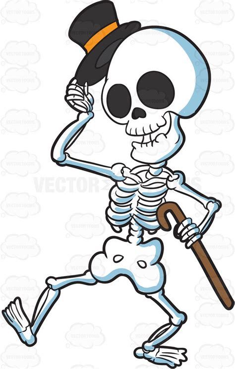 skeleton clipart clipart a skeleton looking refined and respectful