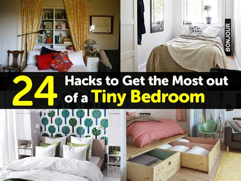 tiny bedroom hacks 24 hacks to get the most out of a tiny bedroom