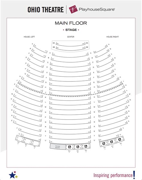 ohio theater seating chart seating charts playhouse square