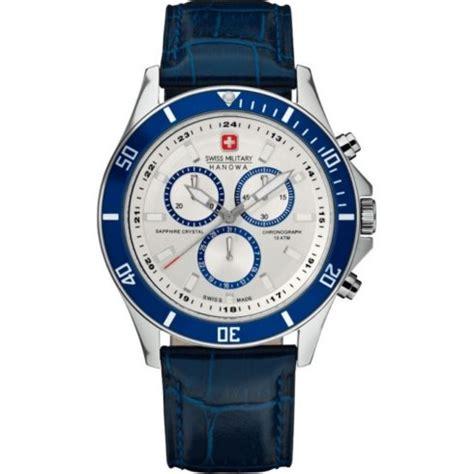 swiss flagship chronograph white blue
