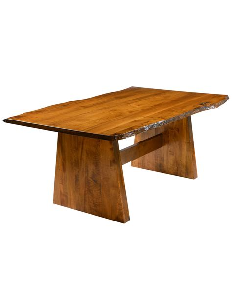 Cedar Dining Room Table Bayport Dining Table With Live Edge Amish Direct Furniture