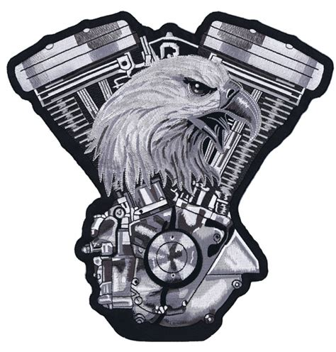 lethal threat eagle v twin engine 11 x 11 patch 563