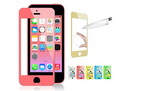 koep colored tempered glass skaermskydd  apple iphone