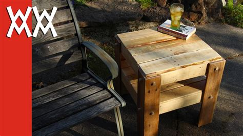 how to make a table out of pallets how to make end tables out of pallets plans free