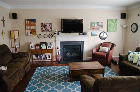 Green Blue And Brown Living Room by Blue Green And Brown Ikat Living Room Decor Home Tour