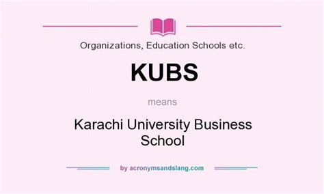 Meaning Of Mba Education by Kubs Karachi Business School In Organizations