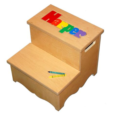 Step Stool With Name Puzzle two step name puzzle stool primary damhorst toys puzzles inc store