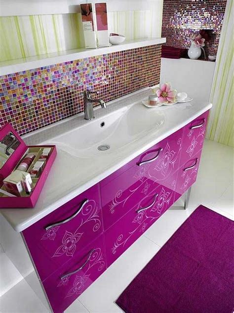 pink tile bathroom decorating ideas 24 pink glitter bathroom tiles ideas and pictures