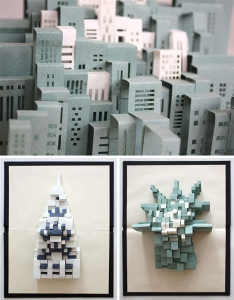 How To Make A 3d Paper City - unfolding urbanism 3d pop up paper of new york city