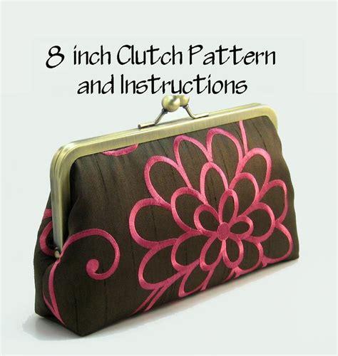 paper bag clutch pattern purse pattern pdf pattern and instructions frame clutch