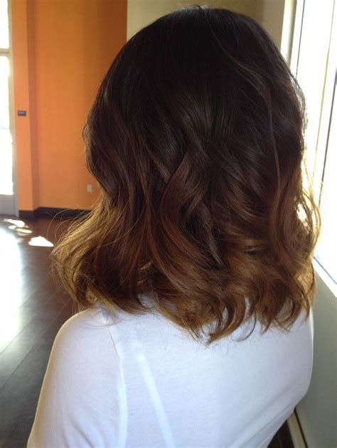 how to do an ombre with medium length hair ombre on medium length hair love hairstyles pinterest