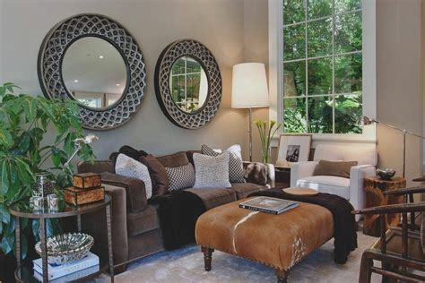 earth tones living room living room transitional with