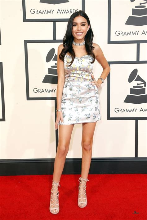 madison beer red madison beer grammys 2016 red carpet fashion what the
