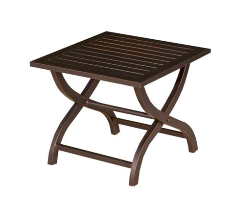 lands end patio furniture cast aluminum seating sets gt haywood gt haywood 26in square end table