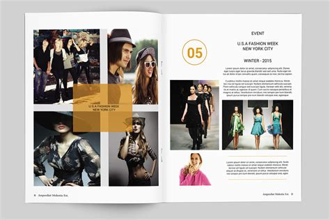 template brochure clothing fashion lookbook template 20 pages on behance