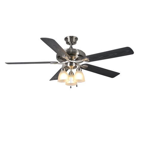 escape ii 60 in led brushed nickel ceiling fan home decorators collection trentino ii 60 in indoor