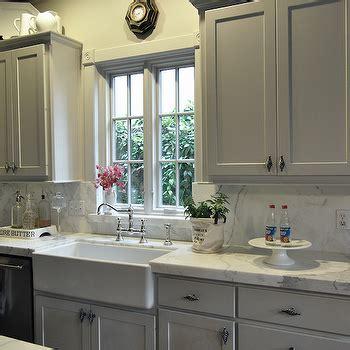White Kitchen Sink Faucet Gray Kitchen Cabinets Contemporary Kitchen Glidden