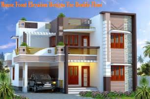Double Floor House Elevation Photos by House Front Elevation Designs For Double Floor Small