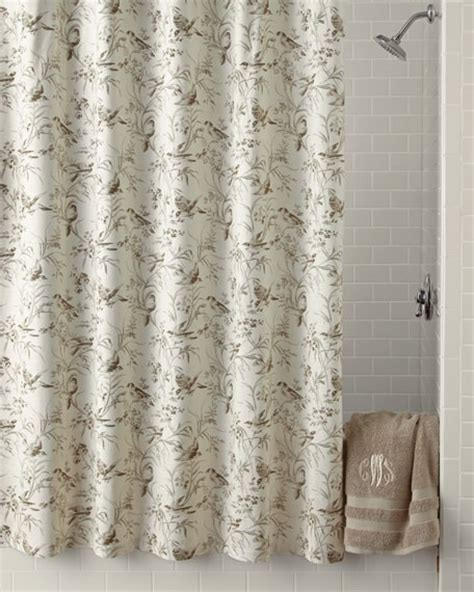 toile shower curtains legacy home aviary toile shower curtain