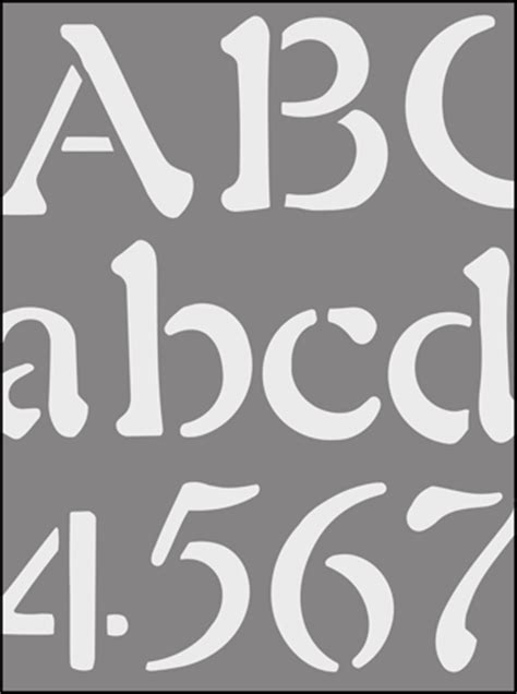lettering stencils from the stencil library buy from our