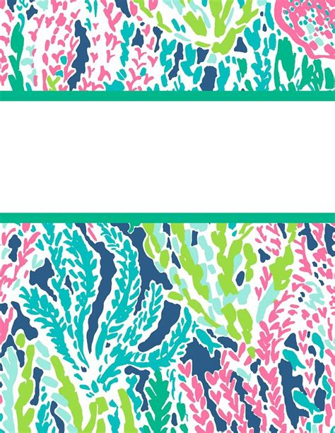 lilly pulitzer binder templates 124 best images about work on free printable