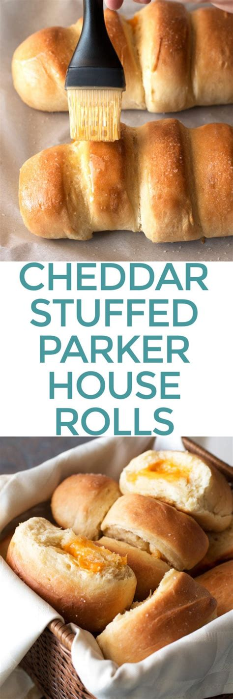 Cheddar Cheese Stuffed Parker House Rolls   Cake 'n Knife