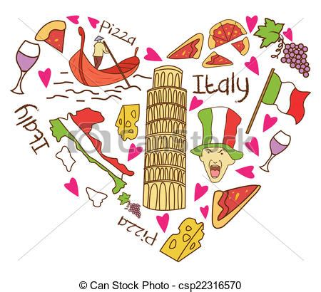 Italian Home Plans by Vectors Illustration Of Italy Tourism Love Banner