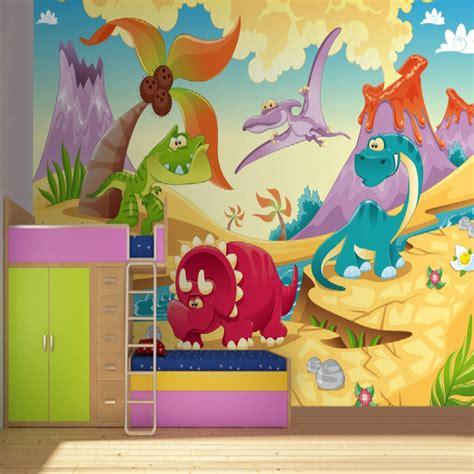 mural bedroom wallpaper aliexpress com buy dinosaur kids wallpaper mural 3d
