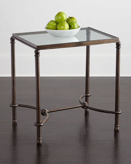 glass top end tables hanigan glass top end table